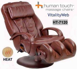 Human Touch HT 7120 Massage Chair Recliner Heat Choc