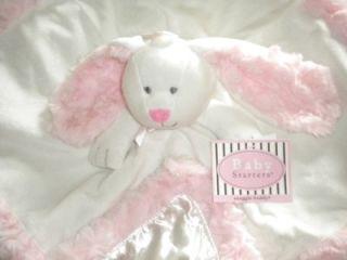 Rashti Baby Starters White Bunny Snuggle Buddy Security Blanket Lovey