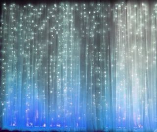 20 ft Wide x 10 ft Fabric Backdrop Wedding Altar Ceremony XL Curtain