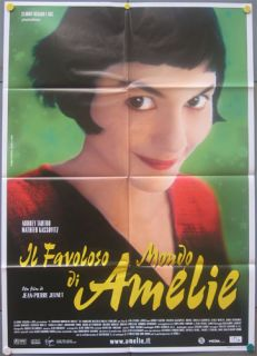 SR82 Amelie Audrey Tautou Great Orig 2sh Poster Italy