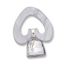 Baby Gift Sterling Silver Little Boy Blue Teething Ring