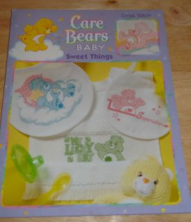 Leisure Arts Care Bears Baby Sweet Things Cross Stitch Booklet 3566