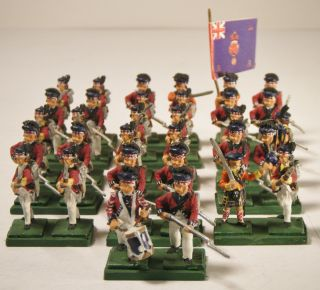 Vintage Lot of Marked AWI British Highlanders Lead Hand Painted Toy
