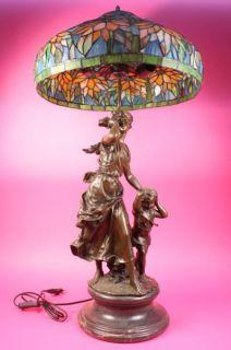 auguste moreau 36 bronze lamp sculpture figurine