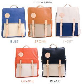colors school backpacks   Blue, Brown, Ivory, Orange, Black.