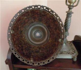 20s Oscar Bach Ornate Art Nouveau Mica Antique Desk Lamp