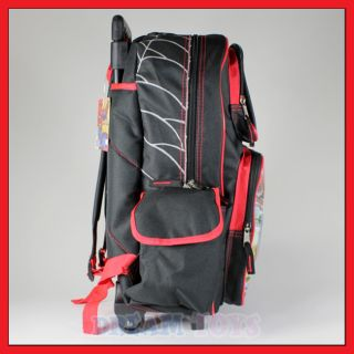 16 Spiderman Rolling Backpack Roller Bag Wheeled Boys