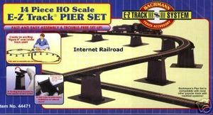 HO SCALE MODEL RAILROAD TRAINS LAYOUT BACHMANN EZ TRACK 14 BRIDGE