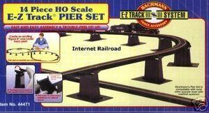 HO SCALE MODEL RAILROAD TRAINS LAYOUT BACHMANN EZ TRACK 14 BRIDGE