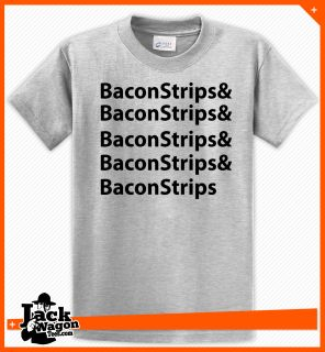 Bacon Strips   EPIC   Food Meal   Funny Time Humor   T Shirt   Tee