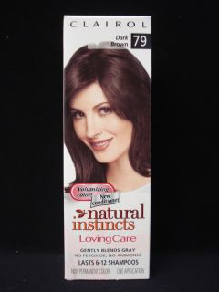 Clairol Natural Instincts Loving Care Hair Color Dark Brown 79