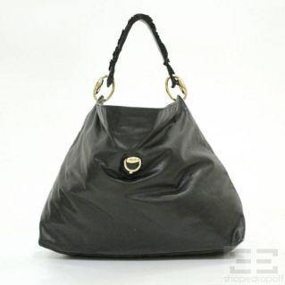 gucci black leather large sabrina shoulder bag