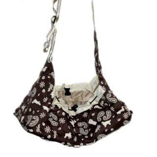 Coffee Figured Dog Poppy Carrier Bag Pet Backpack
