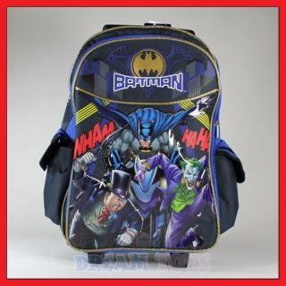 16 Batman Rolling Backpack Roller Bag Wheeled Boys