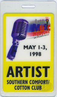 Cinderella Music Midtown Festival 1998 Laminated Backstage Pass