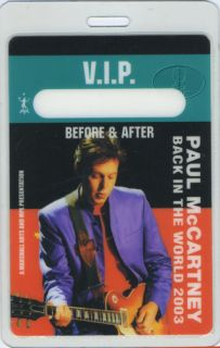 Unused SPECIAL GUEST laminated backstage pass from the PAUL McCARTNEY