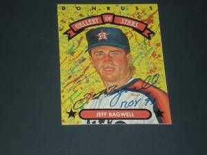 Jeff Bagwell Signed 1992 Donruss Gallery of Stars JSA