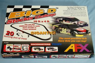 Afx HO Scale Big D Stocker Challenge Slot Car Racing Set #9950 Box Lid