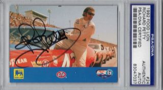 Lion Richard The King Petty Signed Auto Card PSA DNA Slabbed