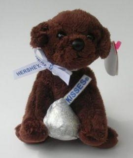 2007 TY Beanie Baby CHOCOLATE KISS Plush Brown PUPPY DOG Hershey Kiss