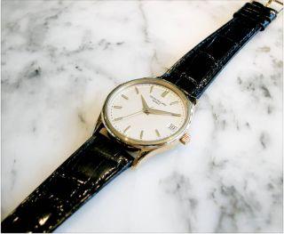 Patek 3998 Calatrava Date Automatic Mens 18K Gold Watch