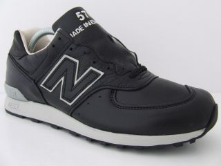 Mens New Balance Trainers 576 BKU Black Leather Deadstock Sneakers