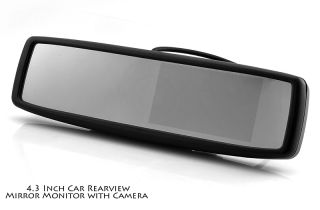 Car Rearview Mirror with Built in 4.3 Inch Monitor and Camera