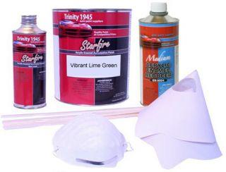 Vibrant Lime Green Acrylic Enamel Auto Paint Kit