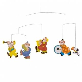 Flensted Circus Clowns Hanging Baby Child Mobile