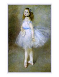 Vintage Art Canvas Ballerina Ballet Dancer in Blue Tutu Degas Dance