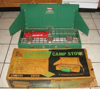 Coleman 426D Three 3 Burner Camp Stove Original Box Coleman Diamond