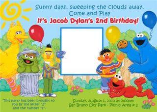 Abby Cadabby Elmo Sesame Street Custom Photo Birthday Invitations