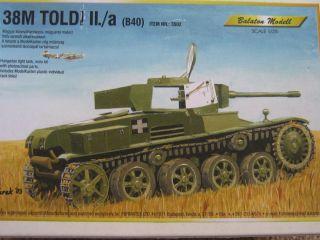 35 Balaton Models 3502 38M Toldi II a Light Tank Resin Etch model