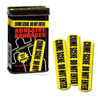 Crime Scene Bandages Band Aids CSI Dexter Novelty Gift Fun