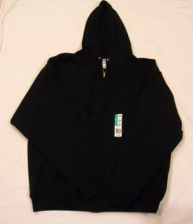 Mens Size XL Jerzees Zip Up Navy Blue Sweatshirt Hoodie Jacket with