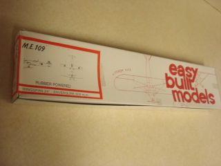EASY BUILT MODELS ME 109 BALSA WOOD FLYING MODEL AIRPLANE KIT **