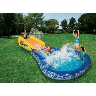 Summer Blast Inflatable Waterslide Backyard Water Park Slide Swimming