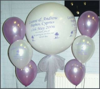 3ft Personalised Printed Balloon Wedding Party Event