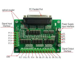 Stepper Motor Driver 6 Axis Interface Board Adapter CNC
