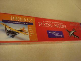 Dumas Fairchild FC 2 Balsa Wood Flying Model Airplane Kit Factory
