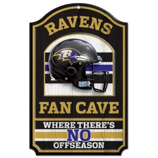Baltimore Ravens Fan Cave Wood Sign New NFL 11 x 17