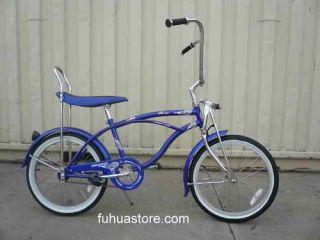 20 Lowrider Beach Cruiser Bicycle Bike Banana Seat Hero Blue