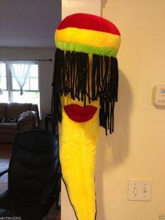 So Cool 28 Stuffed Animal Girl Plush Banana Jamaican Rasta Dreadlocks