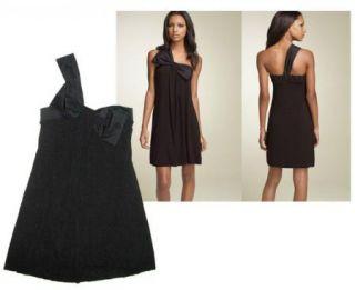 BAILEY 44**LITTLE BLACK KNIT DRESS W/SATIN BOW~XS