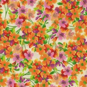 Half Yard Cut ~ Flower Garden by Joan Pace Baker