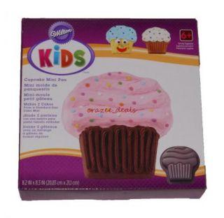 Wilton Kids Cupcake Mini Cake Baking Pan 8 2 x 8 3 New