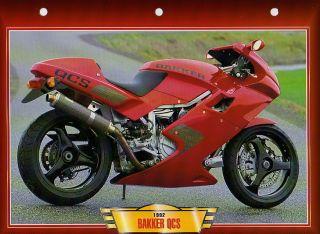 Bakker QCS 1992 Motorcycle Big Photo Moto Card Motorrad 90s Bike Q C