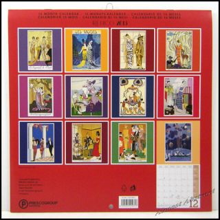 Art Deco George Barbier 2013 (16 Month) Fashion Wall Calendar 12x12