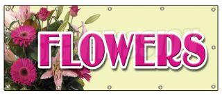 48x120 Flowers Banner Sign Floral Flower Shop Signs Florist Roses