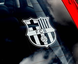 Football Car Window Sticker   Soccer Futbol Club Barça Barca Sign